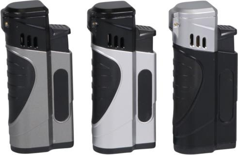 "COOL 4-flame jet lighter ""Dan II"" Random Color"