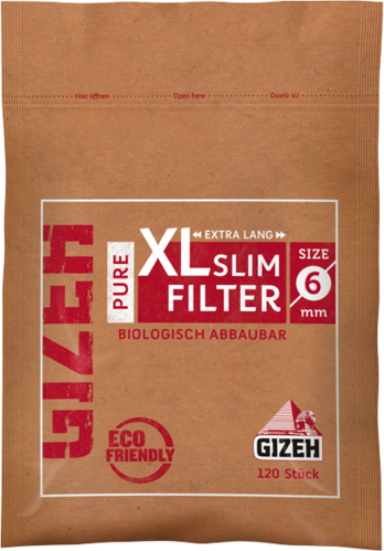 GIZEH PURE slim filters XXL 120 filters
