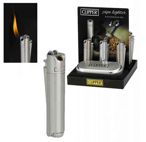 Clipper Metal Pipe Lighter Silver Matte/Polished