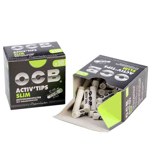 OCB Activ'Tips Slim Activated Charcoal Filters