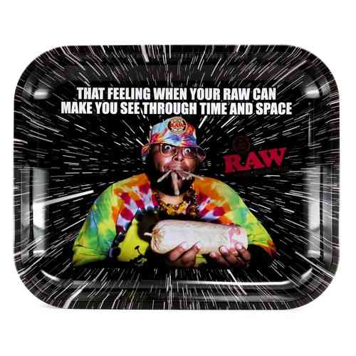 Raw Metal Rolling Tray - Oops