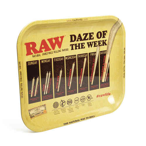 Raw Metal Rolling Tray - Daze