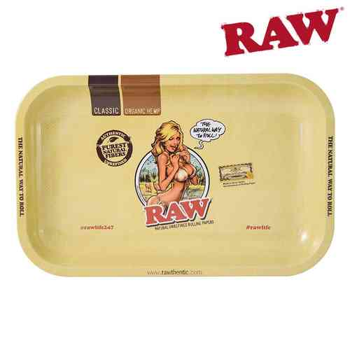 Raw Metal Rolling Tray Mini - Girl