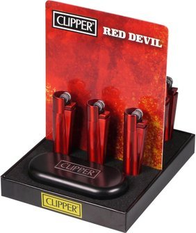 "Clipper flint lighter metal ""Red Devil"""