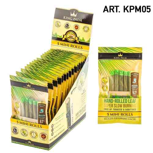 King Palm | 5 Mini Rolls / Pouch w/ Boveda