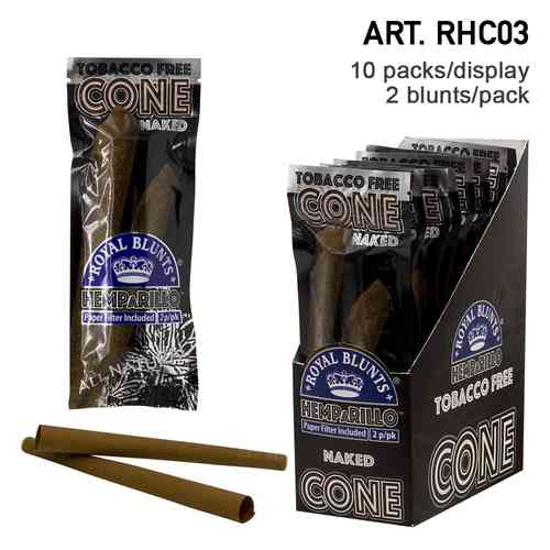 Royal Blunts | Hemparillo Naked (Natural) Cones with  tips